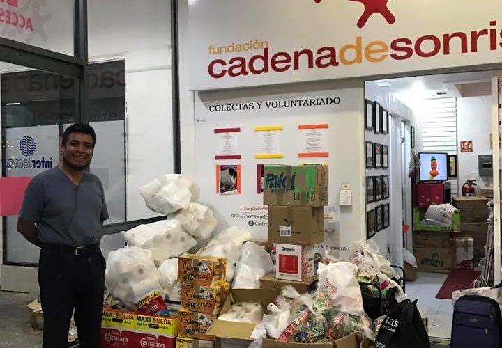 REPORTE DE DONATIVO </br>  Mano a mano&#8230; voluntario con damnificado